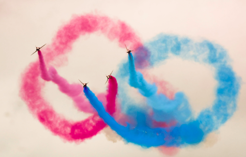 <p>The display made an otherwise dreary day a lot more colourful. (Pic: Rex) </p>