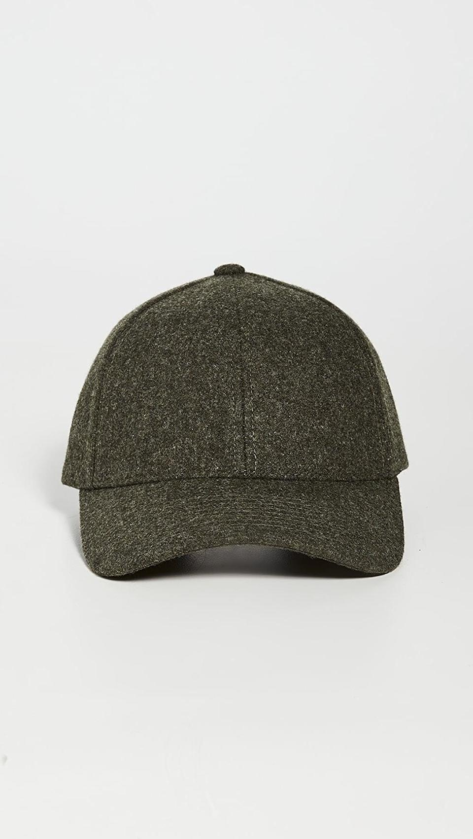 <p>This <span>Varsity Headwear Wool Baseball Cap</span> ($110) is so elevated.</p>