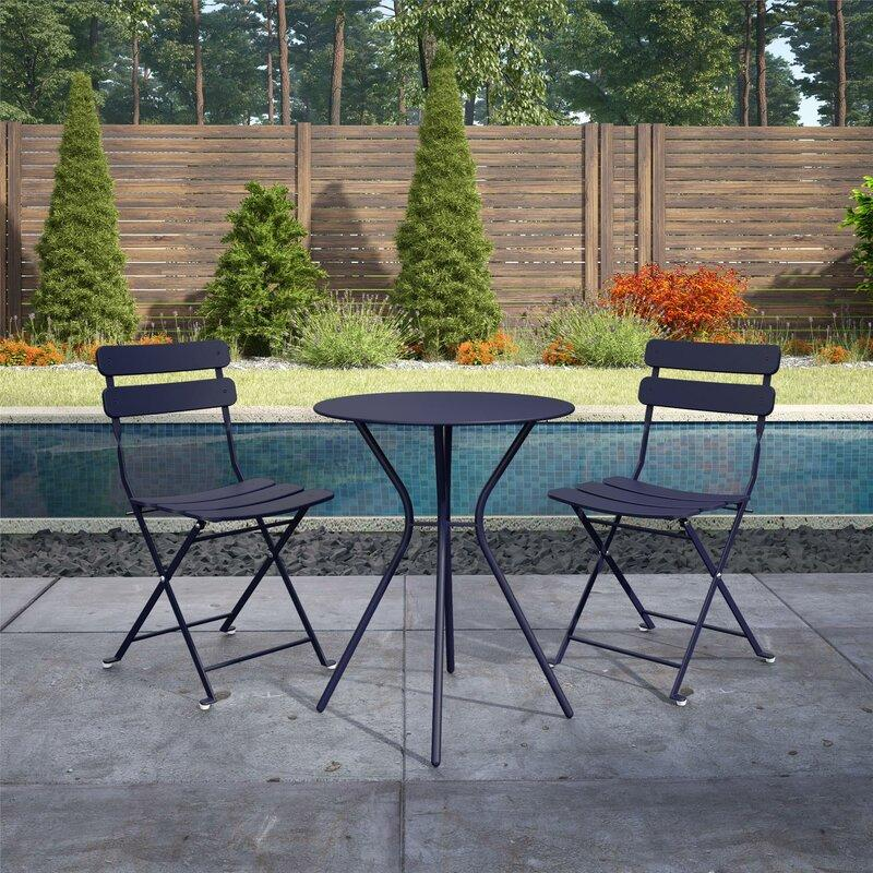 Ainsley Patio 3 Piece Bistro Set (Photo: Wayfair)
