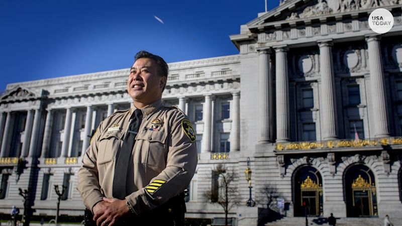 Paul Miyamoto, pictured here in front of San Francisco City Hall, is the first Asian American sheriff of a large county in the state of California.