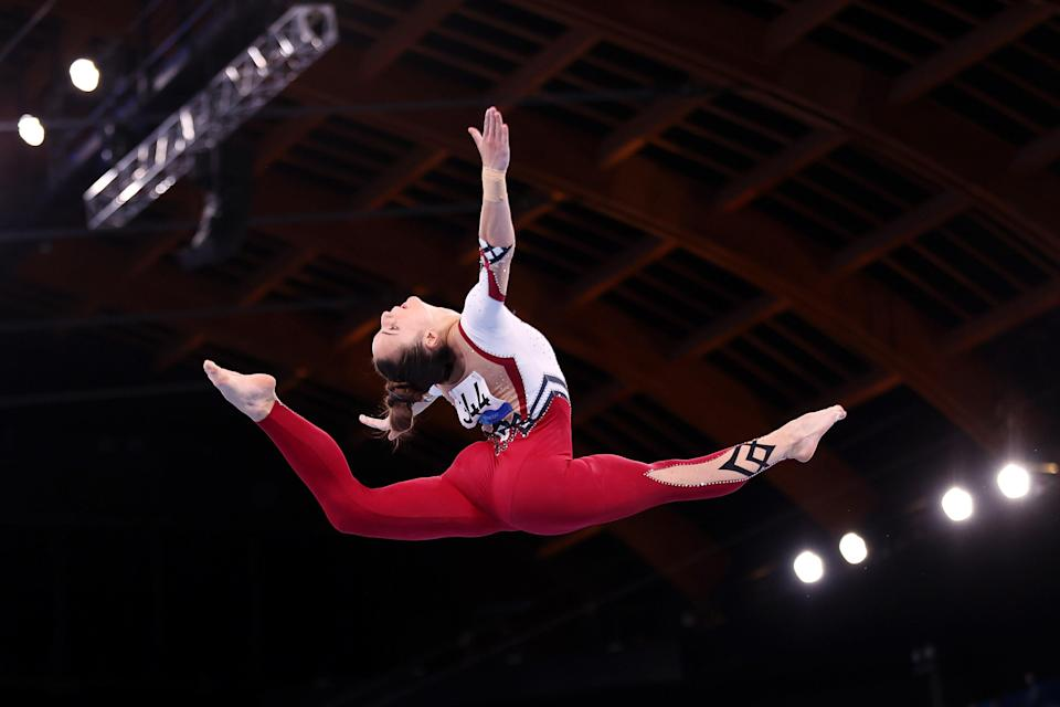 Pauline Schaefer-Betz during the Women's Qualification on day two of the Tokyo 2020 Olympics.
