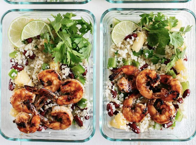 """<h2>1. Caribbean Jerk Shrimp with Cauliflower Rice</h2> <p>Make your co-workers jealous.</p> <p><a class=""""cta-button-link"""" href=""""http://www.eatyourselfskinny.com/caribbean-jerk-shrimp-with-cauliflower-rice"""" target=""""_blank"""">Get the recipe</a></p>"""