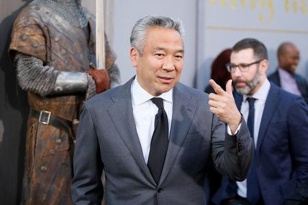 "FILE PHOTO:  Chairman and CEO of Warner Bros. Entertainment Kevin Tsujihara arrives at the premiere of ""King Arthur: Legend of the Sword"" at the TCL Chinese Theatre IMAX, in Hollywood"