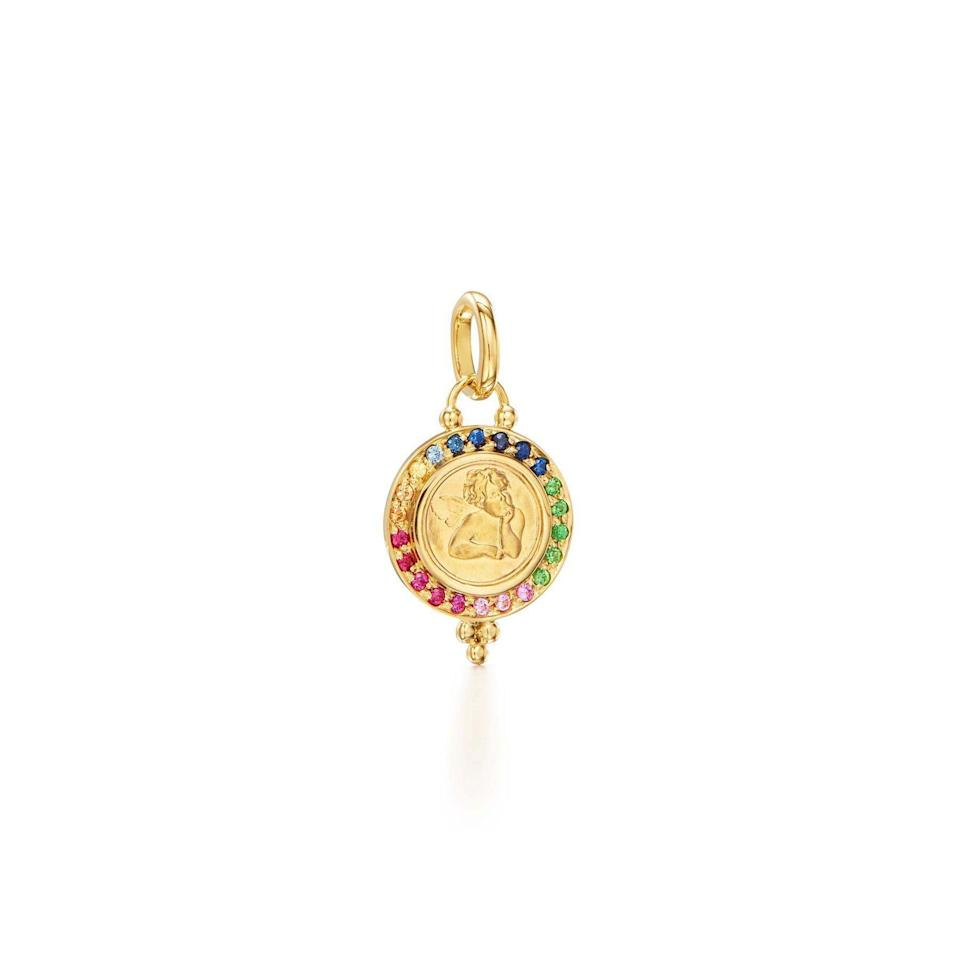 """<p>templestclair.com</p><p><strong>$1250.00</strong></p><p><a href=""""https://templestclair.com/products/18k-rainbow-angel-pendant?variant=39549428302017"""" rel=""""nofollow noopener"""" target=""""_blank"""" data-ylk=""""slk:Shop Now"""" class=""""link rapid-noclick-resp"""">Shop Now</a></p><p>""""Inspired by the cherubs in Raphael's The Sistine Madonna 30% of proceeds from purchases of Temple St Clair's Rainbow Angel Pendant from June 1 until August 31 will benefit the <a href=""""https://hmi.org/"""" rel=""""nofollow noopener"""" target=""""_blank"""" data-ylk=""""slk:Hetrick-Martin Institute"""" class=""""link rapid-noclick-resp"""">Hetrick-Martin Institute</a>.""""—<em>Dania Ortiz, Fashion and Accessories Director</em></p>"""