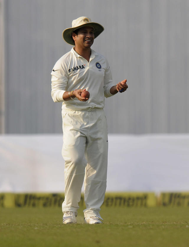 Sachin Tendulkar of India during day three of the first Star Sports test match between India and The West Indies held at The Eden Gardens Stadium in Kolkata, India on the 8th November 2013 Photo by: Pal Pillai - BCCI - SPORTZPICS