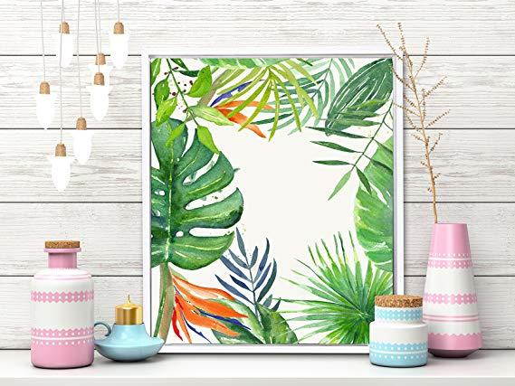 "This watercolour-style, framed, canvas <a href=""https://fave.co/33xbEHT"">Art Print by Art Street</a> is a hot favourite with fans of the tropical theme. Dimensions: 12"" x 10"" (LxB). <em>Rs. 600 on offer.</em>"