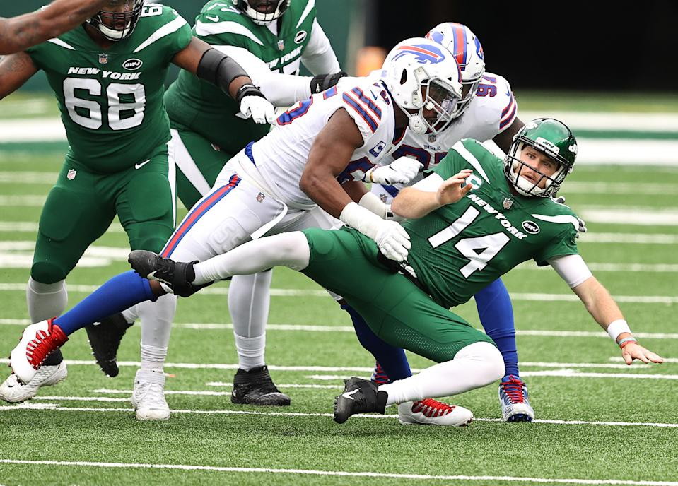 Sam Darnold and the Jets are having a rough season. (Photo by Elsa/Getty Images)