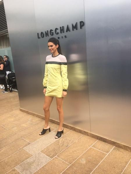 Kendall Jenner at the Longchamp show in New York