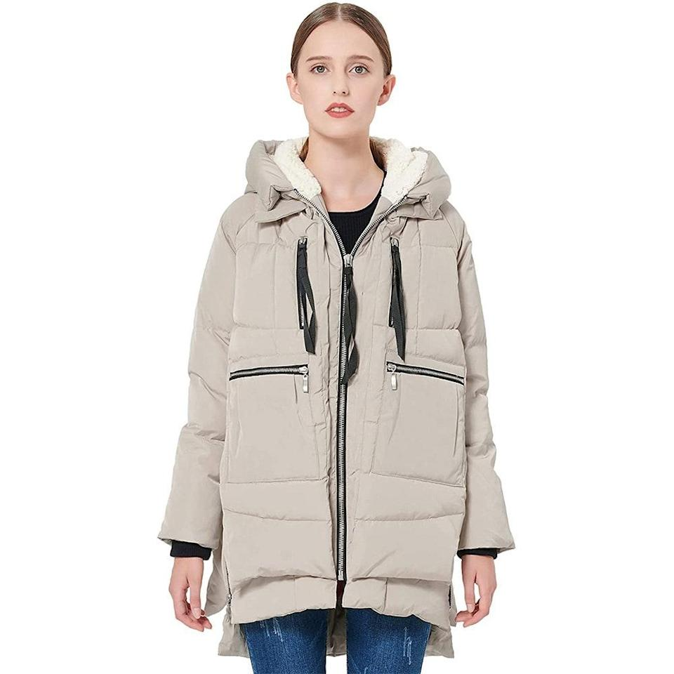 """<p>This isn't any ordinary quilted puffer. The Orolay Thickened Down Winter Coat, also simply known as """"the Amazon Coat,"""" is a full-on viral sensation that took over the internet last winter and even spawned a <a href=""""https://www.instagram.com/theamazoncoat/"""" rel=""""nofollow noopener"""" target=""""_blank"""" data-ylk=""""slk:dedicated Instagram account"""" class=""""link rapid-noclick-resp"""">dedicated Instagram account</a>. </p> <p>What makes this coat so beloved? It's just the right amount of oversized, made out of cozy duck down and waterproof polyester lining, has six roomy pockets, and it comes in sizes XXS to 5X. We're having a hard time finding a single fault with this very gift-worthy coat that'll keep any loved one warm as the temperatures plunge.<br> <br> <strong>$140 to $160</strong> (<a href=""""https://www.amazon.com/Orolay-Womens-Thickened-Jacket-Wished/dp/B07BV6V4HL"""" rel=""""nofollow noopener"""" target=""""_blank"""" data-ylk=""""slk:Shop Now"""" class=""""link rapid-noclick-resp"""">Shop Now</a>)</p>"""
