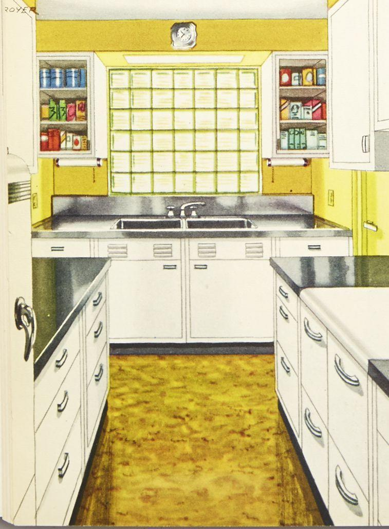 <p>Saving time was a consistent theme in the '30s, when <em>House Beautiful </em>teamed up with Procter & Gamble to create the Ivory Washable House. The design emphasized materials that were easy to clean and maintain, like metal cabinets, stainless steel counters, and linoleum floors. </p>