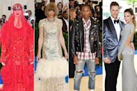 <p><strong>The theme: </strong>Rei Kawakubo/Comme de Garçons: Art of the In-Between</p> <p><strong>The co-chairs: </strong>Katy Perry, Anna Wintour, Pharrell Williams, Tom Brady and Gisele Bündchen </p> <p><strong>Honorary chair: </strong>Rei Kawakubo </p>