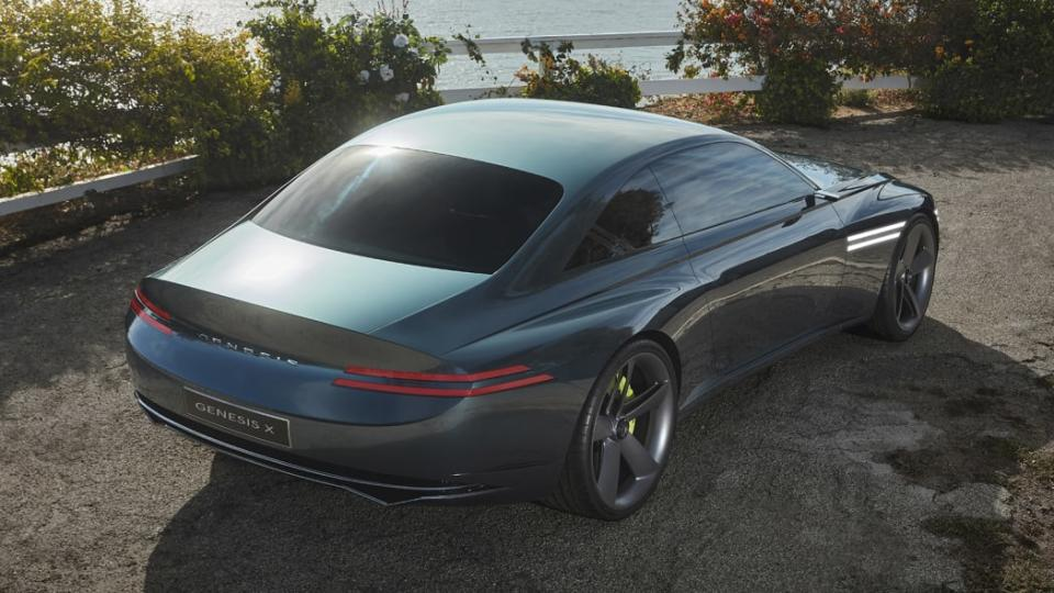 The Genesis X concept coupe is a curvy, high-tech luxury EV