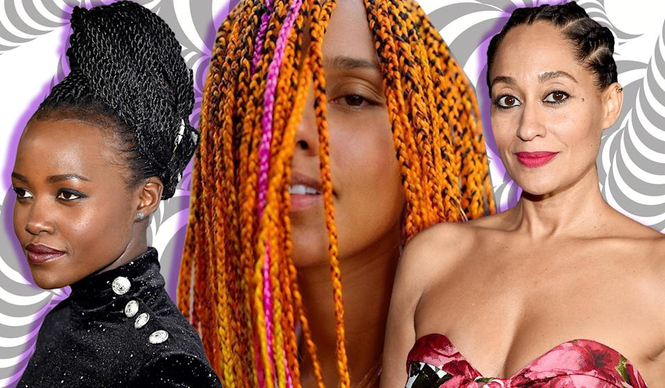 Lupita Nyong'o, Alicia Keys, and Tracee Ellis Ross show off some of the best braid hair looks. (Photo: Getty Images)