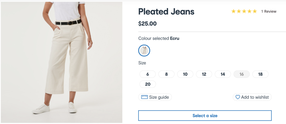 The pants are a surefire cult-buy for Spring. Photo: Kmart.
