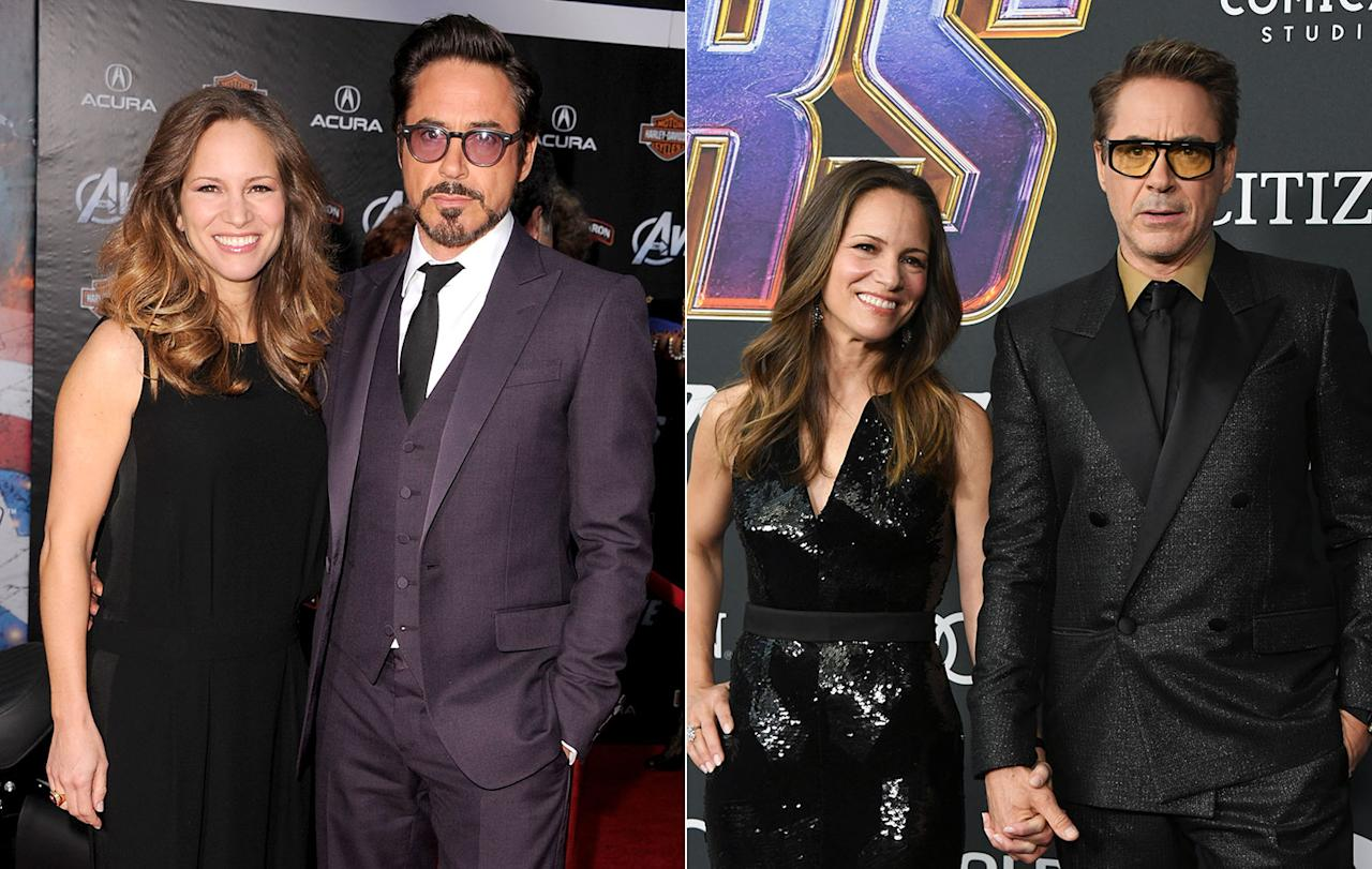 <p>Pictured at both events with wife Susan Downey, Robert Downey Jr. is the cornerstone of the MCU, but <i>Endgame</i> is rumoured to be his final film as Iron Man. (Getty Images) </p>