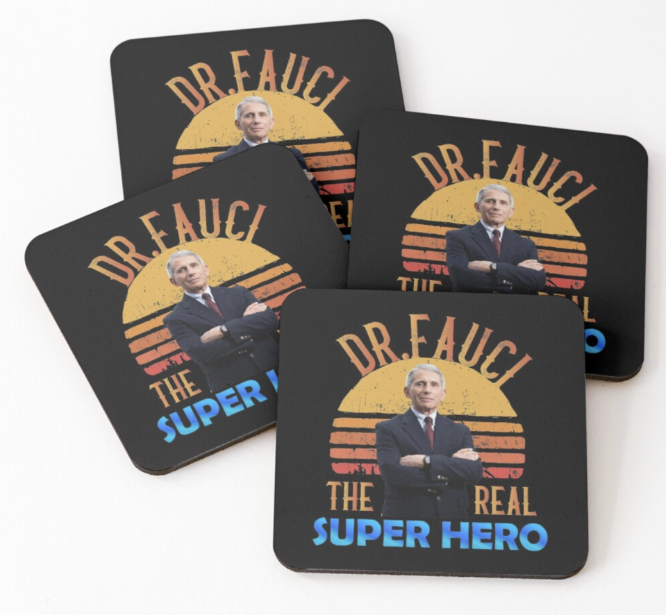 Only real superheroes get their own coaster. (Photo: Redbubble)