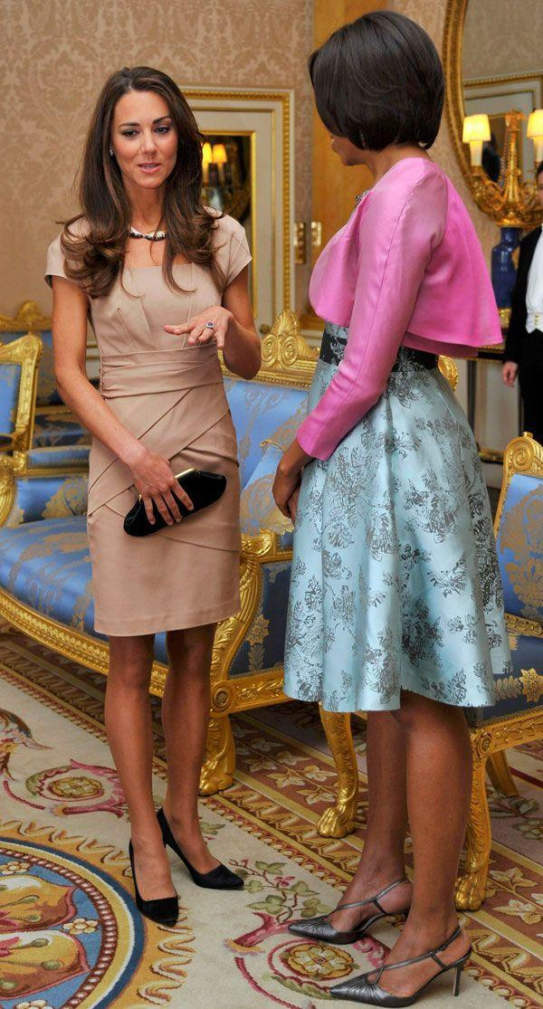 <p>Simple and elegant in Reiss again to meet Barack and Michelle Obama at Buckingham Palace</p>