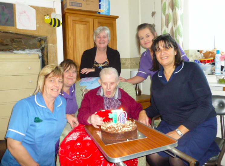 Kenny has celebrated his birthday every year for the past five years at the care home where he lives (SWNS)