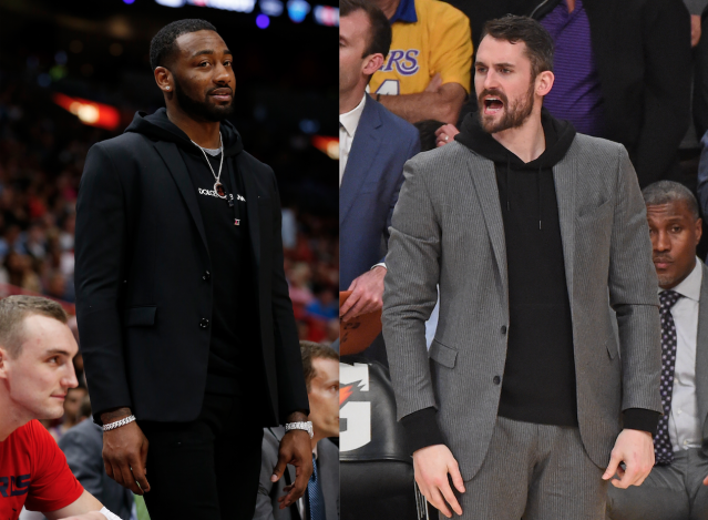 "<a class=""link rapid-noclick-resp"" href=""/nba/players/4716/"" data-ylk=""slk:John Wall"">John Wall</a> and Kevin Love are injured and are owed a ton of money. (Getty)"