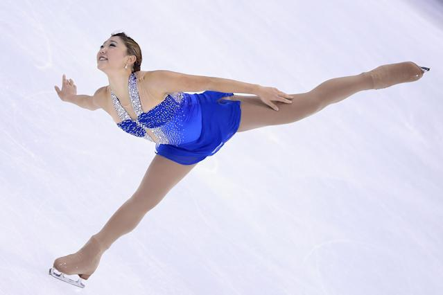 SHANGHAI, CHINA - NOVEMBER 03: Mirai Nagasu of United States skates in Ladies Free Skating during Cup of China ISU Grand Prix of Figure Skating 2012 at the Oriental Sports Center on November 3, 2012 in Shanghai, China. (Photo by Feng Li/Getty Images)