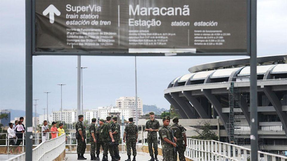 Brazilian police discovered the small toolbox on Sunday at the Maracanã Stadium while rehearsals were being carried out. Photo: AP