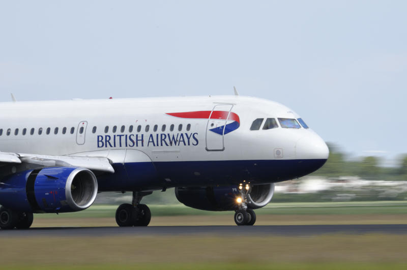 Schiphol, The Netherlands - June 12, 2011: British Airways Airbus A320 taking off from Schiphol airport.