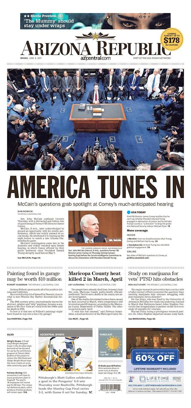 "<p>""The Daily Courier,"" published in Prescott, Ariz. (Newseum) </p>"