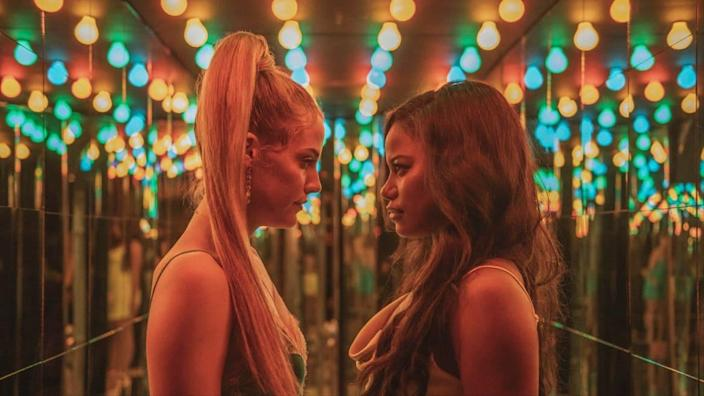 """<div class=""""inline-image__caption""""><p>Taylour Paige and Riley Keough star in the A24 film <em>Zola</em></p></div> <div class=""""inline-image__credit"""">A24</div>"""