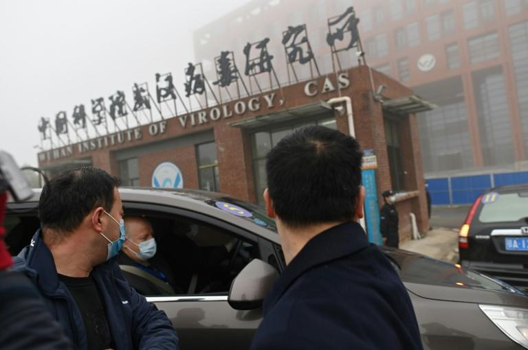 Members of the World Health Organization (WHO) team investigating the origins of the COVID-19 coronavirus visit the Wuhan Institute of Virology in Wuhan on February 3, 2021