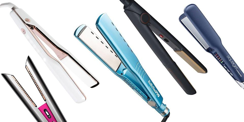 """<p class=""""body-dropcap"""">Discovering a high-powered hair straightener that works with your natural hair texture—rather than against it—is worthy of celebration. """"When I find something that works, I will stick with it and tell everyone about it,"""" says <a href=""""https://www.instagram.com/tildebymatilde/?hl=en"""" rel=""""nofollow noopener"""" target=""""_blank"""" data-ylk=""""slk:Matilde Campos"""" class=""""link rapid-noclick-resp"""">Matilde Campos</a>, a celebrity hairstylist who has worked with Beyoncé and Nicki Minaj. """"As a hairstylist in the entertainment industry, I have fallen in love with many hair products and hair tools. Mainly, those who do what they say they do, and do it well."""" On the flat iron front, look no further than the 11 listed below. These are the straighteners that'll create smooth and sleek looks in a flash, without excessive damage, long waits, or pesky snags.</p>"""