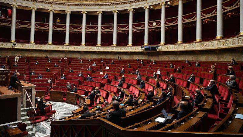 L'hémicycle de l'Assemblée nationale le 28 avril 2020 (illustration) - AFP