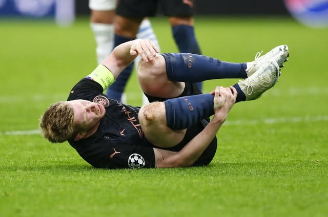 De Bruyne had to deal with some robust challenges