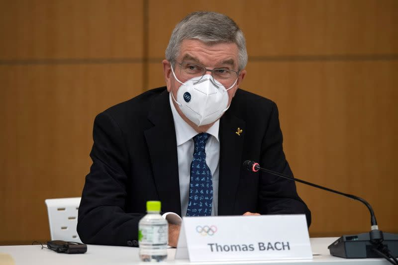 International Olympic Committee President Thomas Bach attends a news conference in Tokyo