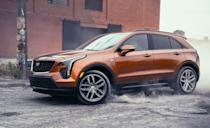 """<p>Cadillac's first subcompact luxury entry is working as intended. It nearly outsold every Cadillac car combined in 2020. Every <a href=""""https://www.caranddriver.com/cadillac/xt4"""" rel=""""nofollow noopener"""" target=""""_blank"""" data-ylk=""""slk:XT4"""" class=""""link rapid-noclick-resp"""">XT4</a> has a 237-hp turbocharged inline-four with a nine-speed automatic transmission. Front-drive is standard, but all-wheel drive can be added to any trim level for $2500. GM's cylinder deactivation tech helps the XT4 get decent highway fuel economy with an EPA-estimated 29 mpg. The most expensive all-wheel-drive XT4 is still cheaper than a base Evoque and E-Pace, and it has more space inside. Thanks to a partnership with Amazon, you can get your shipment of essential oils and recyclable doggy-poop bags delivered right to your XT4 using the <a href=""""https://www.caranddriver.com/news/a20052767/amazon-in-car-delivery-is-here/"""" rel=""""nofollow noopener"""" target=""""_blank"""" data-ylk=""""slk:Amazon Key"""" class=""""link rapid-noclick-resp"""">Amazon Key</a> app from the infotainment screen.</p><ul><li>Base price: $36,990</li><li>EPA Fuel Economy combined/city/highway: 26/24/29 mpg (FWD)</li><li>Rear cargo space: 22 cubic feet</li></ul><p><a class=""""link rapid-noclick-resp"""" href=""""https://www.caranddriver.com/cadillac/xt4"""" rel=""""nofollow noopener"""" target=""""_blank"""" data-ylk=""""slk:MORE XT4 SPECS"""">MORE XT4 SPECS</a></p>"""
