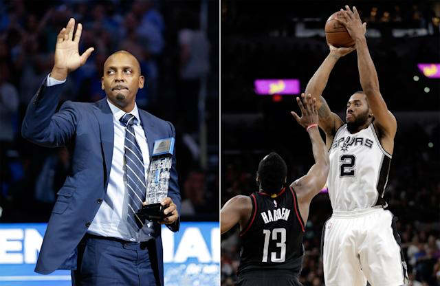 """It would be reasonable to criticize Penny Hardaway for saying <a class=""""link rapid-noclick-resp"""" href=""""/nba/players/4896/"""" data-ylk=""""slk:Kawhi Leonard"""">Kawhi Leonard</a>'s not a superstar … if he'd said that. (AP)"""