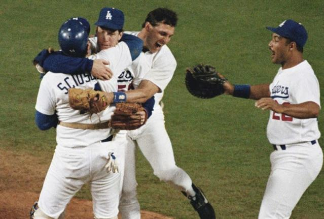Orel Hershiser and the Dodgers had a lot to celebrate in 1988. (AP)