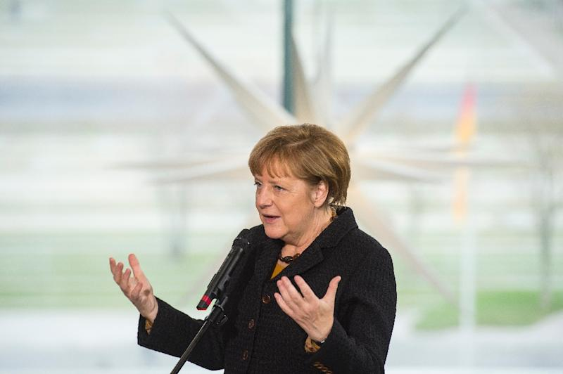 AFP journalists have chosen Angela Merkel as the most influential figure of 2015 after the German chancellor stamped her mark on the European migrant and Greek financial crises (AFP Photo/John MacDougall)