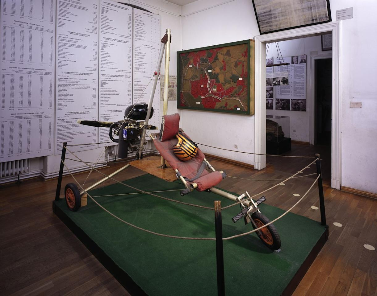 "<p>In 1984, Czech <a href=""http://www.ivoprop.com/ivostory.htm"">Ivo Zdarsky</a> built his own aircraft to fly over the Iron Curtain. A microlight based on the two-stroke engine and fuel tank of the ubiquitous Trabant. Other components were scavenged or home-made. </p><p>After taking off at 3 am his homemade propeller struck a rock during take-off but survived thanks to its steel edge.  Zdarsky stayed low to avoid radar, flying under power lines and landing at Vienna International Airport. After his escape, Zdarsky moved to the U.S. and set up <a href=""http://www.ivoprop.com/ivostory.htm"">Ivoprop,</a> a successful business manufacturing propellers.</p>"