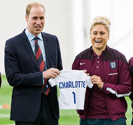 Prince William Says Princess Charlotte Keeps Him Up All Night, Receives Soccer Jersey for Daughter: Photo