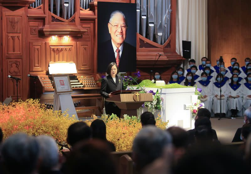 Memorial service for late Taiwan president Lee Teng-hui in New Taipei City