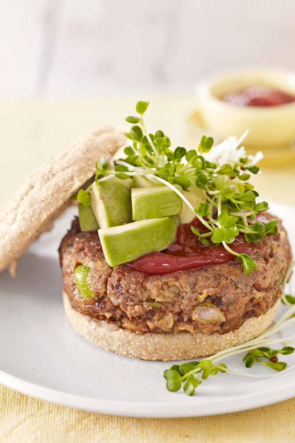 "<p>Use canned pinto beans to make this easy and quick recipe. </p><p><strong><a href=""https://www.countryliving.com/food-drinks/recipes/a2947/veggie-burgers-recipe-09/"" rel=""nofollow noopener"" target=""_blank"" data-ylk=""slk:Get the recipe"" class=""link rapid-noclick-resp"">Get the recipe</a>.</strong></p><p><a class=""link rapid-noclick-resp"" href=""https://www.amazon.com/Victoria-Skillet-Seasoned-Flaxseed-Certified/dp/B01726HD72/?tag=syn-yahoo-20&ascsubtag=%5Bartid%7C10063.g.35089489%5Bsrc%7Cyahoo-us"" rel=""nofollow noopener"" target=""_blank"" data-ylk=""slk:SHOP SKILLETS"">SHOP SKILLETS</a></p>"