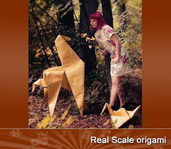 Real Scale origami
