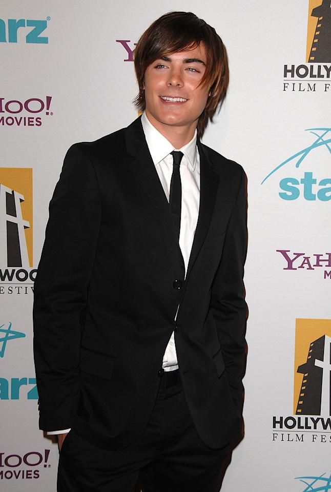 "<a href=""http://movies.yahoo.com/movie/contributor/1808543881"">Zac Efron</a> at the Hollywood Film Festival's Hollywood Awards in Beverly Hills - 10/22/2007"