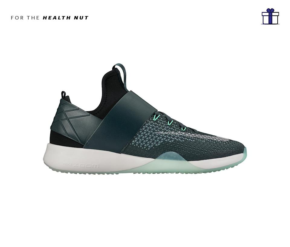 """<p>These new Nike Air Zoom sneakers are not only stylish, but lightweight and feature heal cushion impacts that provide a springy feeling when in motion. Nike Air Zoom Strong, $110, <a href=""""http://store.nike.com/us/en_us/pd/air-zoom-strong-womens-training-shoe/pid-11156206/pgid-11505360"""" rel=""""nofollow noopener"""" target=""""_blank"""" data-ylk=""""slk:nike.com"""" class=""""link rapid-noclick-resp"""">nike.com</a> </p>"""