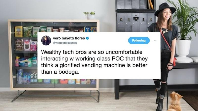 Twitter Users Slam Tech Bros' 'Bodega' Box That Intends To Replace Real Ones