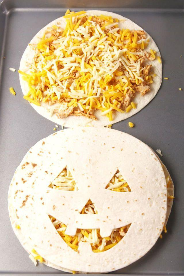 """<p>It only takes 20 minutes to whip up this cute dinner idea for the kids.</p><p><em><strong>Get the recipe at <a href=""""https://www.delish.com/cooking/recipe-ideas/recipes/a55712/jack-o-lantern-quesadillas-recipe/"""" rel=""""nofollow noopener"""" target=""""_blank"""" data-ylk=""""slk:Delish"""" class=""""link rapid-noclick-resp"""">Delish</a>.</strong></em></p>"""