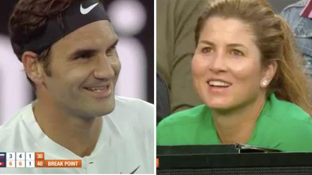 Roger even had wife Mirka laughing. Image: Channel 7