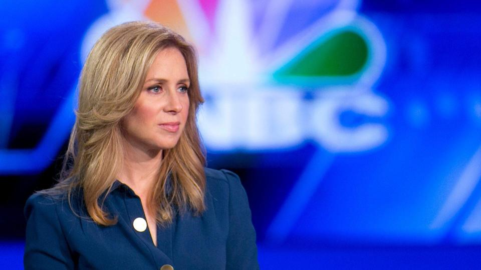 Mandatory Credit: Photo by Mark Lennihan/AP/Shutterstock (5931140z)Becky Quick, Co-Anchor of CNBC's Squawk Box Becky Quick, Co-Anchor of CNBC's Squawk Box, moderates a panel discussion,