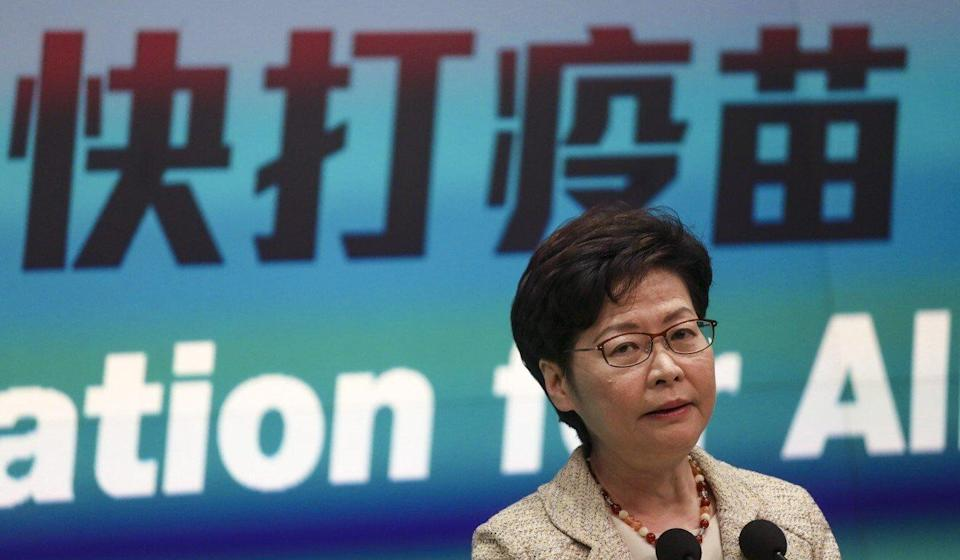 Chief Executive Carrie Lam has said talks with Beijing about reopening the border are 'ongoing'. Photo: Xiaomei Chen