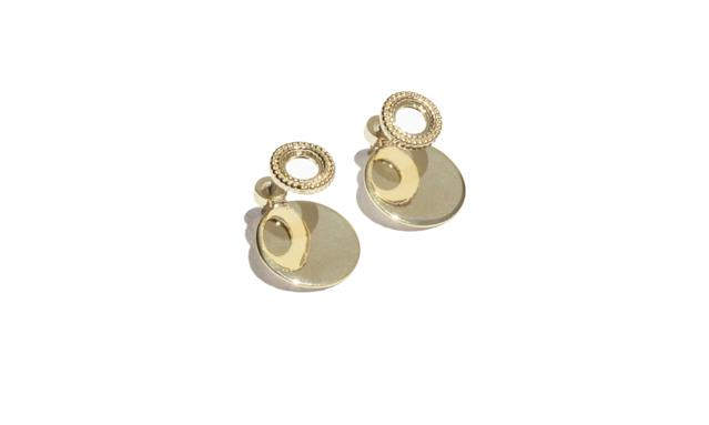 "<p>Earrings, $19, <a href=""https://www.stories.com/us/Jewellery/Earrings/Circle_Plate_Earrings/582808-0518429001.2"" rel=""nofollow noopener"" target=""_blank"" data-ylk=""slk:stories.com"" class=""link rapid-noclick-resp"">stories.com</a> </p>"